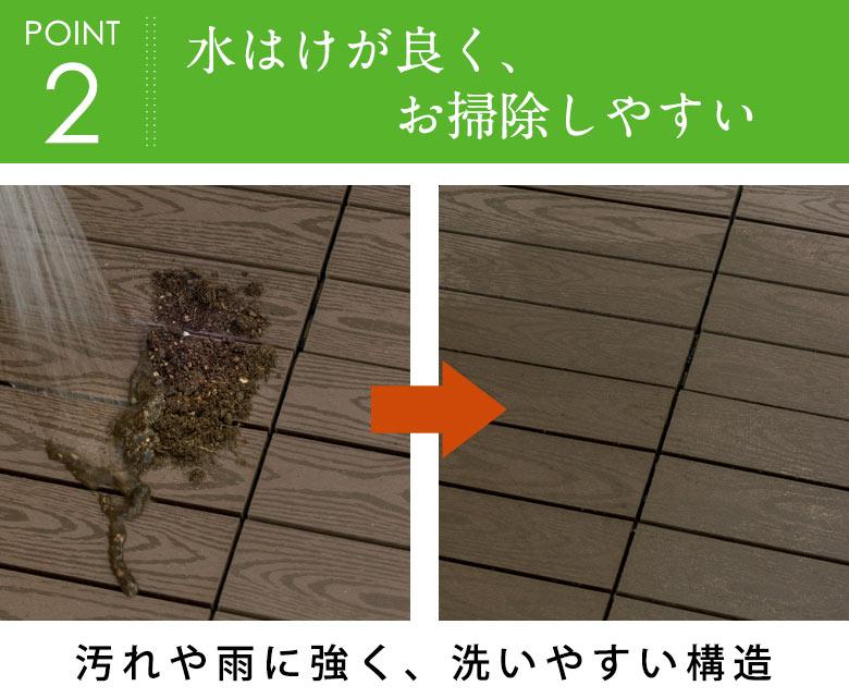 汚れや雨に強く、洗いやすい。水はけが良く、お掃除しやすい。