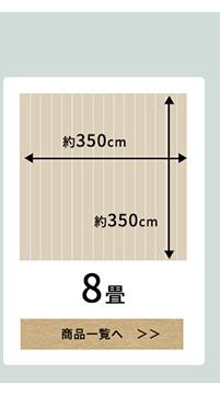 江戸間8畳のフロアマット