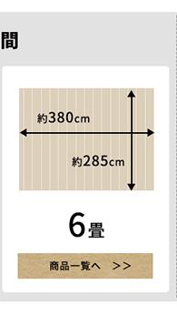 本間6畳のフローリングカーペット