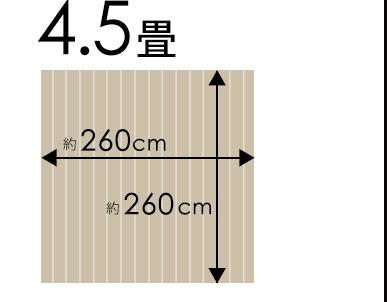 団地間4.5畳260×260cm