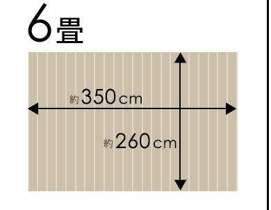 江戸間6畳350×260cm