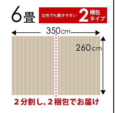 江戸間6畳2梱包350×260cm