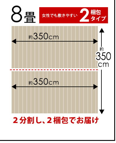 江戸間8畳(2梱包タイプ)